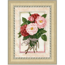 Набор для вышивания крестиком Золотое руно Винтажные розы (КН-015)