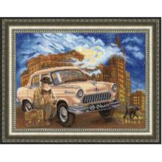 Набор для вышивания крестиком Золотое руно Берегись автомобиля (ЛК-006)