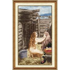 Набор для вышивания крестиком Золотое руно Весна. По мотивам картины А.А.Пластова (МК-025)