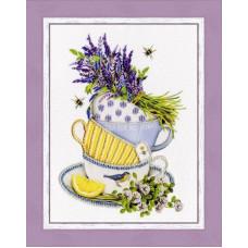 Набор для вышивания бисером Золотое руно Лавандовый чай (РТ-154)
