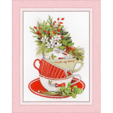 Набор для вышивания бисером Золотое руно Жасминовый чай (РТ-155)