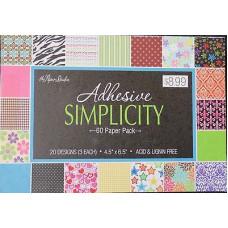 Набор бумаги Adhesive simplicity 12х17см (851204)