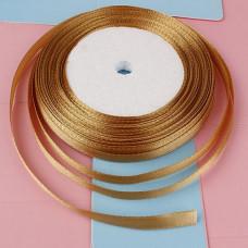 Атласная лента, пастельно-золотистый, 6мм