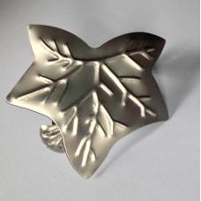 Клипса Листик, античное серебро