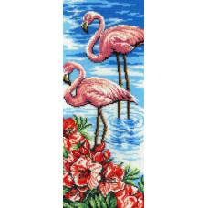 Набор для вышивания бисером М.П.Cтудия Фламинго (БГ-181)