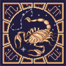 Набор для вышивания бисером М.П.Cтудия Скорпион (БК-11)