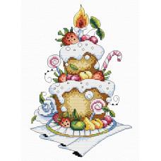 Набор для вышивания крестом М.П.Cтудия Фруктовый десерт (М-048)