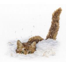 Кот в снегу (НВ-557)