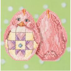 Набор для вышивания Mill Hill Розовый цыпленок (JS181715)