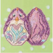 Набор для вышивания Mill Hill Фиолетовый цыпленок (JS181716)