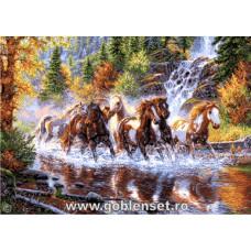 Набор для вышивки GOBLENSET Каскад лошадей (G1052)