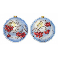 Набор для вышивания крестом М.П.Cтудия Морозная рябина (Р-166)