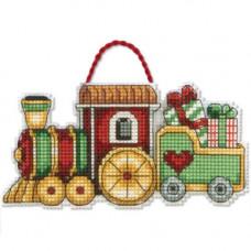 Игрушка на елку Рождественский поезд (70-08897)