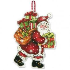 Игрушка на елку Санта Клаус с мешком (70-08912)