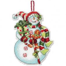 Игрушка на елку Снеговик со сладостями (70-08915)