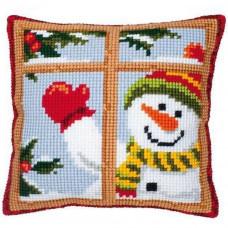 Подушка Веселый снеговик (PN-0008519)