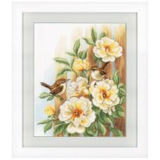 Птицы на розах (0021782)