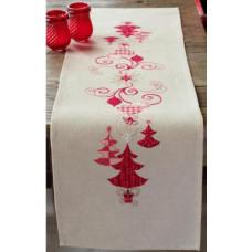 Дорожка на стол Красные рождественские украшения (PN-0144712)