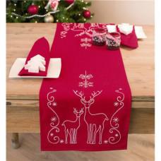 Дорожка на стол Олени и снежинки (PN-0145591)**