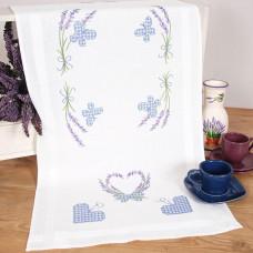 Дорожка на стол Веточки лаванды и бабочки (PN-0146889)