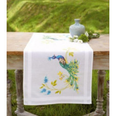 Дорожка на стол Павлин с цветами (PN-0149370)
