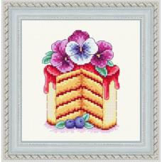 Набор для вышивания крестиком Сделано с любовью Виола (ВИ-45)