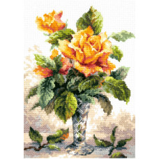 Набор для вышивания крестиком Чудесная игла Жёлтые розы (40-79)