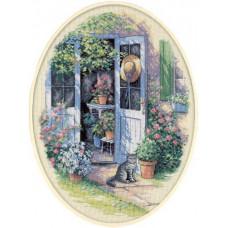 Набор для вышивания крестом Dimensions Дверь в сад (35124)