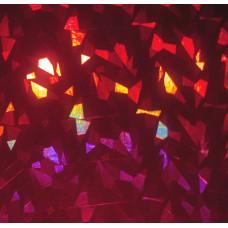 Фольга красная, голографическая