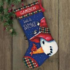 Рождественский сапожок Снеговик (71-09149)
