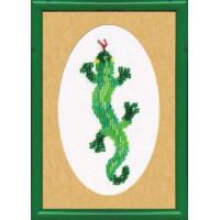 Набор для вышивания бисером Чарівна мить Ящерица (Б-011)