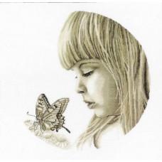 Девочка и бабочка (M344)*