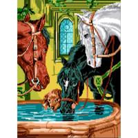 Лошади на водопое (0.02)