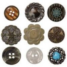 Набор пуговиц Accoutrements Buttons, Tim Holtz (TIMTH.92837)