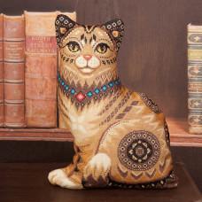 Набор для вышивания крестом Panna Подушка Кошка (ПД-1636)