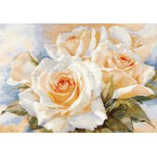 Набор для вышивания крестом Алиса Белые розы (2-32)
