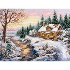 Набор для вышивания крестом Алиса Зима. К вечеру (3-15)