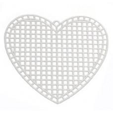 Заготовка из пластиковой канвы Сердце (33147)