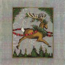 Схема для вышивки крестом Mirabilia Designs Blitzen - Christmas Eve Couriers (NC116)
