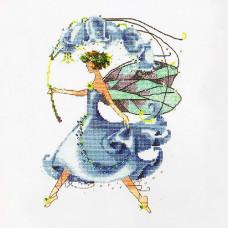 Схема для вышивки крестом Mirabilia Designs Bluebell Spring Garden - Pixie Couture Collection (NC134)