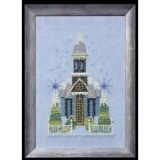 Набор бисера MillHill для дизайна Mirabilia Little Snowy Blue Church - Snow Globe Village Series (NC158E)