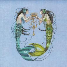 Схема для вышивки крестом Mirabilia Design The Twin Mermaids (MD141)