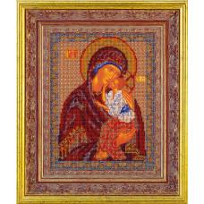 Набор для вышивания бисером Икона Ярославская Богородица (В-152)