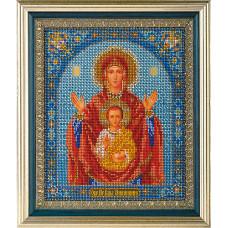 Набор для вышивания бисером Икона Богородица Знамение (В-157)