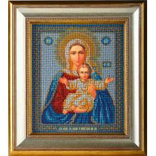 Набор для вышивания бисером Икона Богородица Леушинская (Азъ есмь с вами и никтоже на вы) (В-156)