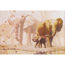 Набор для вышивания крестиком Чарівна мить Слоны (475)