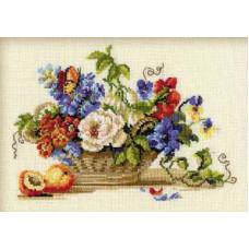 Корзина с цветами (864)*