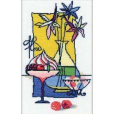 Набор для вышивания крестом Риолис Малиновый десерт (910)