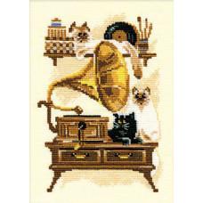 Кошки с граммофоном (859)
