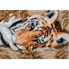 Набор для вышивания крестом Dimensions Обаятельный тигр (65056)
